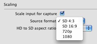 Opciones de conversión HD a SD en la MXO2 Mini