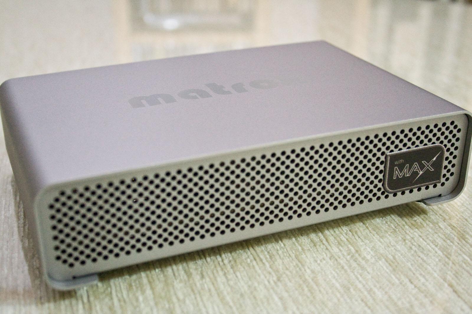 Matrox MXO2 Mini con el chip Max que comprime por hardware vídeo H.264