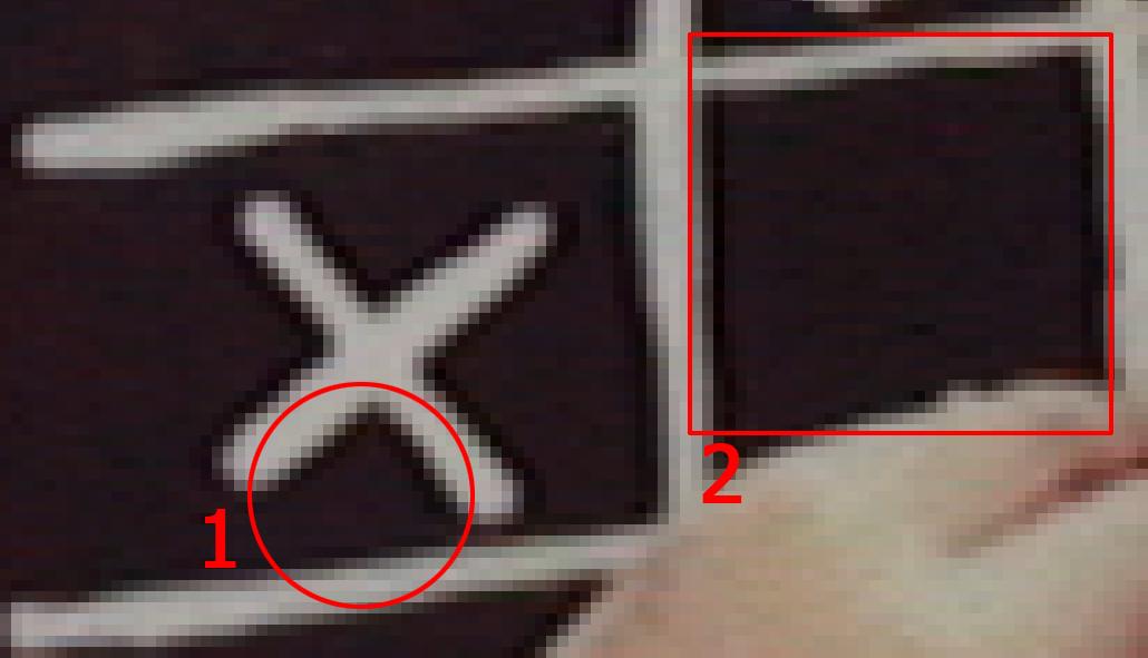 Detalle de los artefactos de compresión JPEG en vídeo sin compresión 10-Bit generado por la Matrox MXO2 Mini