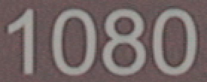 Detalle de compresión de texto en vídeo sin compresión 10 bit de la Matrox MXO2 Mini