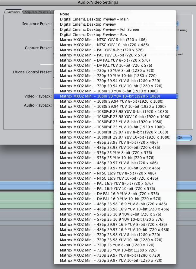 Formatos de salida de vídeo con la Magix MXO2 Mini