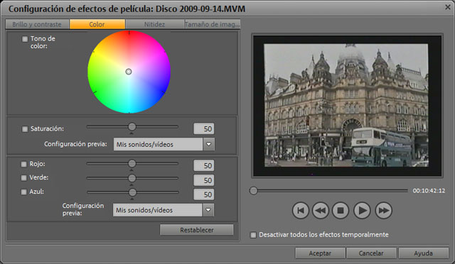 Ajustes de color en Films en DVD 8