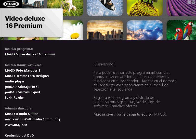 Instalación Video Deluxe 16 Premium