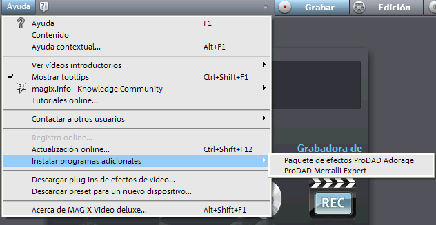 Instalacion Paquete Premium en Video Magix Deluxe 16