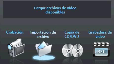 Opciones de trabajo en Magix Video Deluxe 16