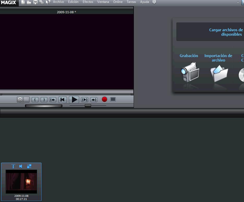 Importar archivos en Magix Video Deluxe 16
