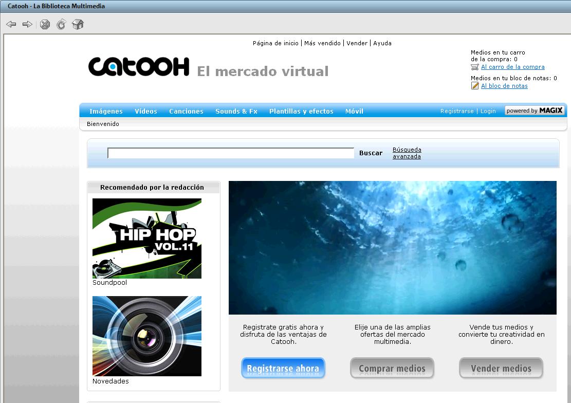 Acceso al catálogo Catooh desde Magix Video Deluxe 16